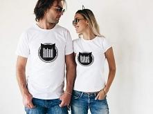 Koszulki dla zakochanych z napisami: kotuń i kotuś