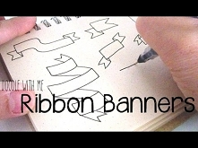 How to Draw Ribbon Banners (For your Bullet Journal) | Doodle with Me