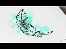 TUTO DESSIN ET AQUARELLE - Plume et doodles - Speed drawing