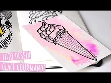 TUTO DESSIN - Glace gourmande - Speed drawing