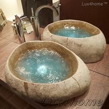 Umywalka z kamienia polnego - otoczaka na blat. Umywalka z kamienia naturalne...