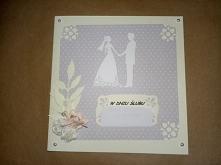 Kartka na ślub, delikatna, ...