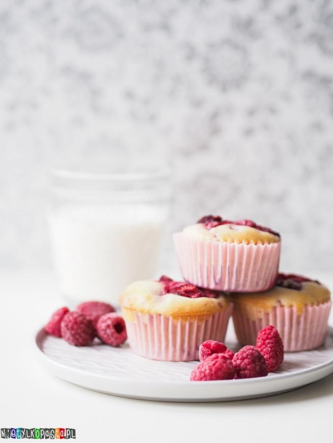 Muffiny z malinami, pyszny przepis