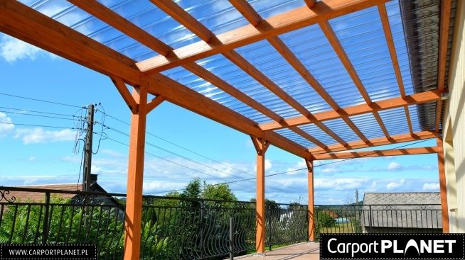 zadaszenie tarasu projekt p2 z drewna