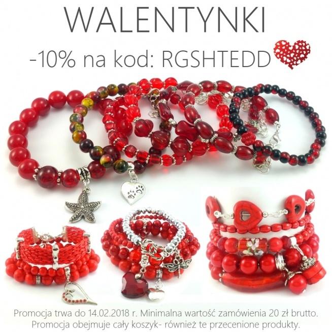 Z okazji zbliżających się Walentynek zniżka  ✂-10% na kod: RGSHTEDD   Biżuteria