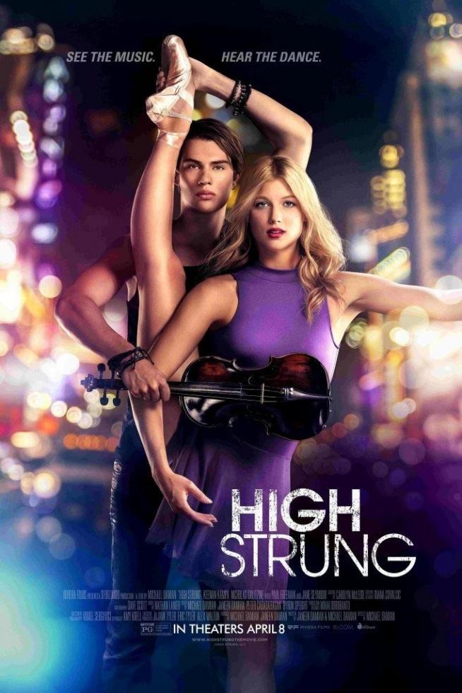 High Strung (2016)     Kiedy skrzypek improwizuje w metrze w Nowym Jorku poznaje tancerkę, która przyjechała na stypendium. Przygotowują się razem do konkursu, który może zmienić ich życie.