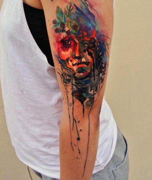 art face tattoo