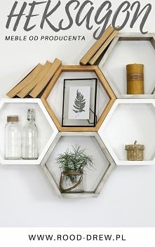 Nie masz pomysłu na ścianę ?? kup półki heksagon i ułóż w swój kształt  Półki...