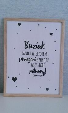 Ramka z sentencja - Handmade by brzostula