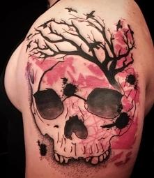 skull and tree