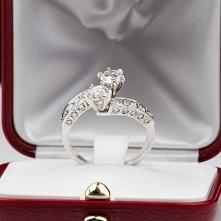 Najpiękniejszy pierścionek zaręczynowy z brylantami 2* 0,5 Ct. Kliknij na zdj...