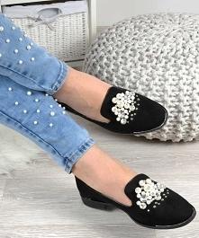 Balerinki lordsy z perełkami- świetne buty na wiosnę ze sklepu Pantofelek24.p...