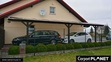 wiata garażowa projekt p3 wiata samochodowa wiata na samochód zadaszenie nad ...