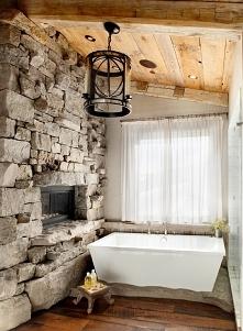 kominek w łazience