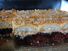 Ciasto Kostka Kawowo-Kajmakowa