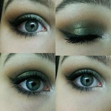 próba połączenia brązu z zielenią :)  @_makeup_amateur zapraszam jeśli ktoś m...