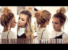 6 QUICK & EASY BUN HAIR...