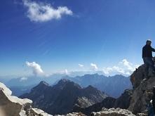 widok z Zugspitze