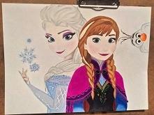 Kraina Lodu Anna, Elsa i Olaf  Format A3