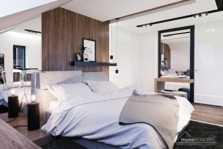 Aranżacja sypialni domu HomeKONCEPT 01
