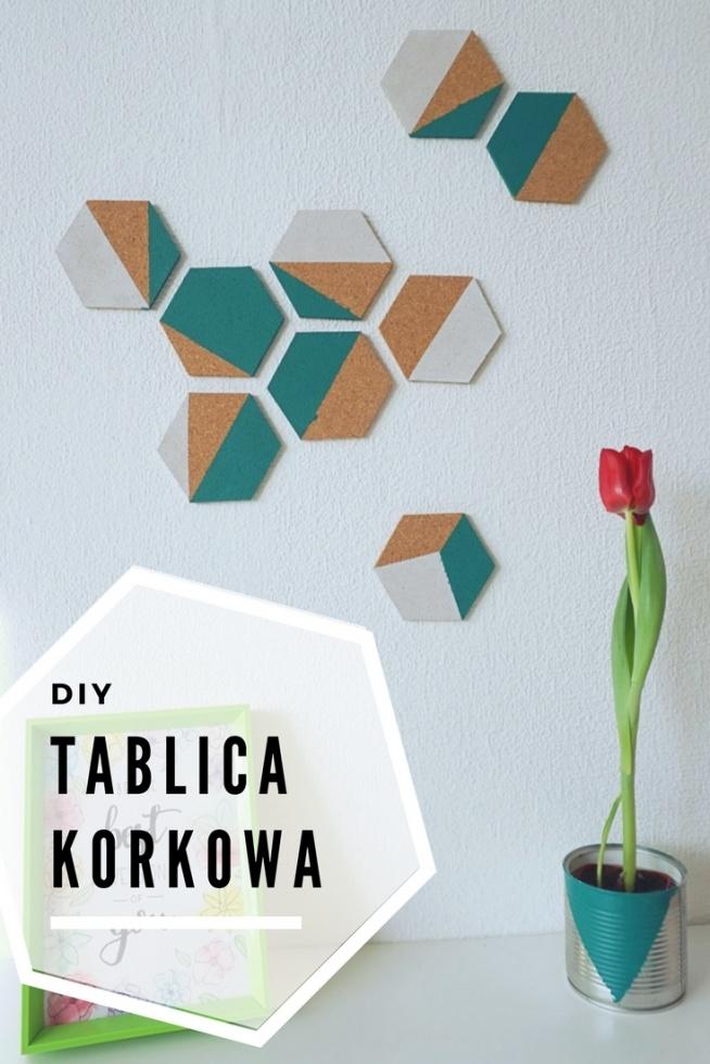 DIY Geometryczna tablica korkowa • origamifrog.pl