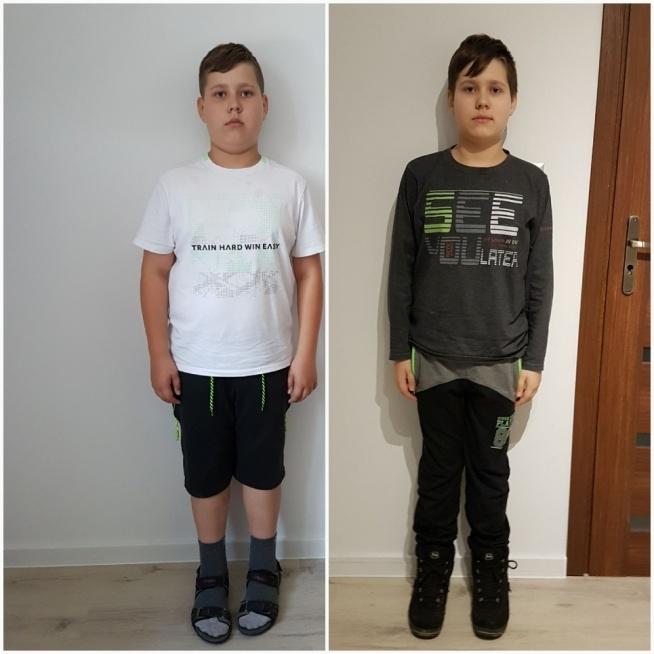 jeden z najwytrwalszych chlopcow jakiego poznalam! 11- letni Dawid po 10 tygodniach mojej diety  ;)