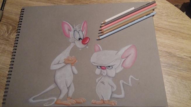 Pinky i Mózg ;)   Jak ja i moja przyjaciółka ;) oczywiście to JA jestem mózgiem! ;P  instagram: sandi0093