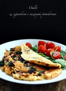 omlet ze szpinakiem i suszo...