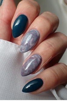 Moje nowe <3 Marble nails/ stone effect nails [więcej po kliknięciu na zdjęcie]