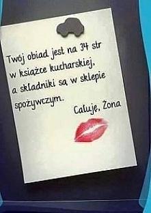 Całuję żona :)