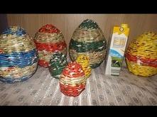Jajko z wikliny papierowej - duże i małe