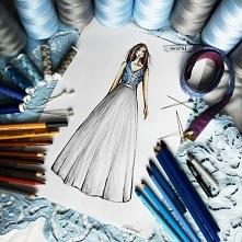 Projekt indywidualny sukni wieczorowej. Szycie na miarę w SOPSI