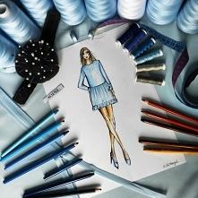 Indywidualny projekt letniej sukienki z wiązaniami. Szycie na miarę w SOPSI