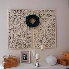 DIY dekoracja z wycieraczki