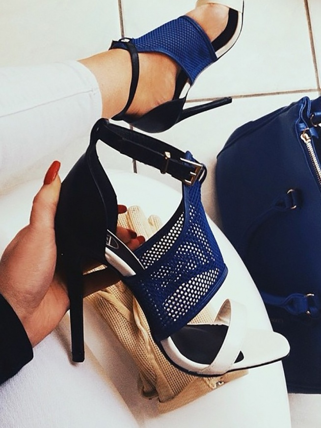 Sexy Open Toe Thin Heeled Sandals Rozmiar: US4.5, US5.5, US6, US7, US8, US8.5 Kolor: blue