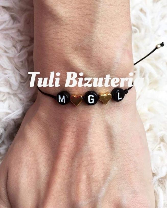 Bransoletka z imieniem, inicjałem, datą urodzenia lub innym napisem by Tuli Bizuteria