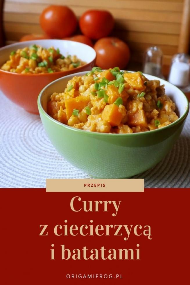 Przepis na Curry z ciecierzycy i batatów • origamifrog.pl Szybki i pyszny pomysł na obiad
