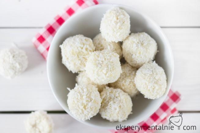 Przepis na trufle jaglane - domowe rafaello bez cukru i bezglutenowe - wegańskie słodycze / Coconut & Almonds Gluten free Millet Truffles - Vegan Sweet - Sugar free