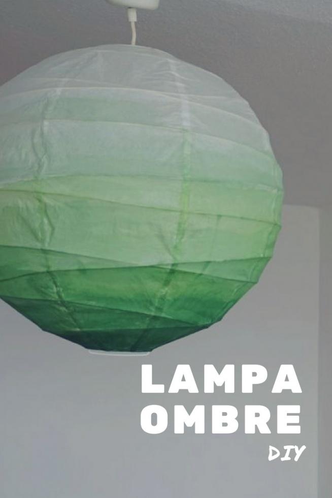 DIY Lampa ombre - metamorfoza papierowego klosza • origamifrog.pl