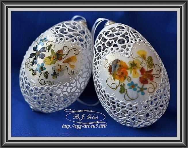 Ażurowe pisanki -Egg art- Bogusława Justyna Goleń