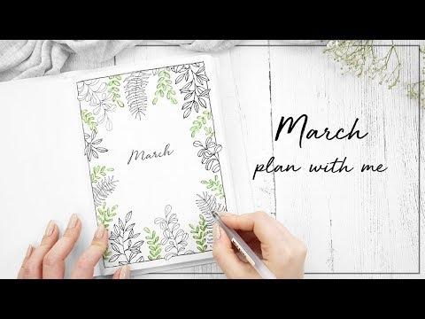 PLAN WITH ME | March 2018 | w/ ChristineMyLinh, JennyJournals & NicolesJournal