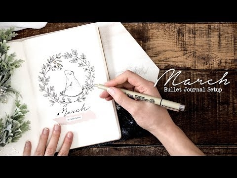 Plan with me | March 2018 (w/ MyLifeinaBullet, Jenny Journals, & Nicole's Journal)