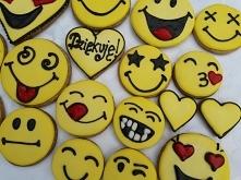 Emotikony z piernika, podziękowanie :)