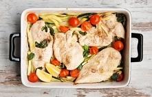 Kurczak pieczony na warzywach