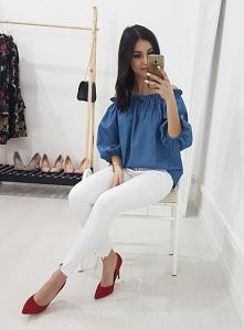 Hiszpanka CALISA haft jasny jeans. Ottanta - sklep online