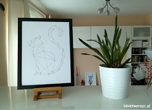 Geometryczny kot - obraz DIY