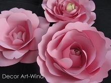 papierowe kwiaty dekoracja ...
