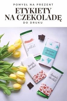 Miłosne etykiety na czekola...