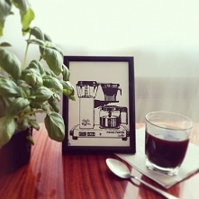 Kawa z mlekiem czy bez? Piliście już swoją? Obrazek do przygarnięcia, szczegó...