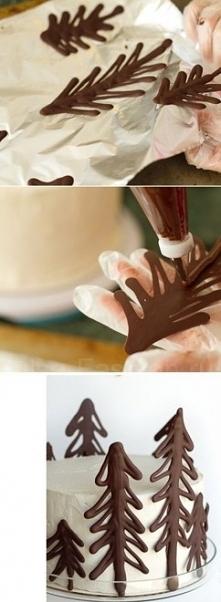 świerk z czekolady